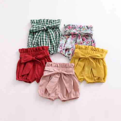 Girls Bowknot Pp Short Pant