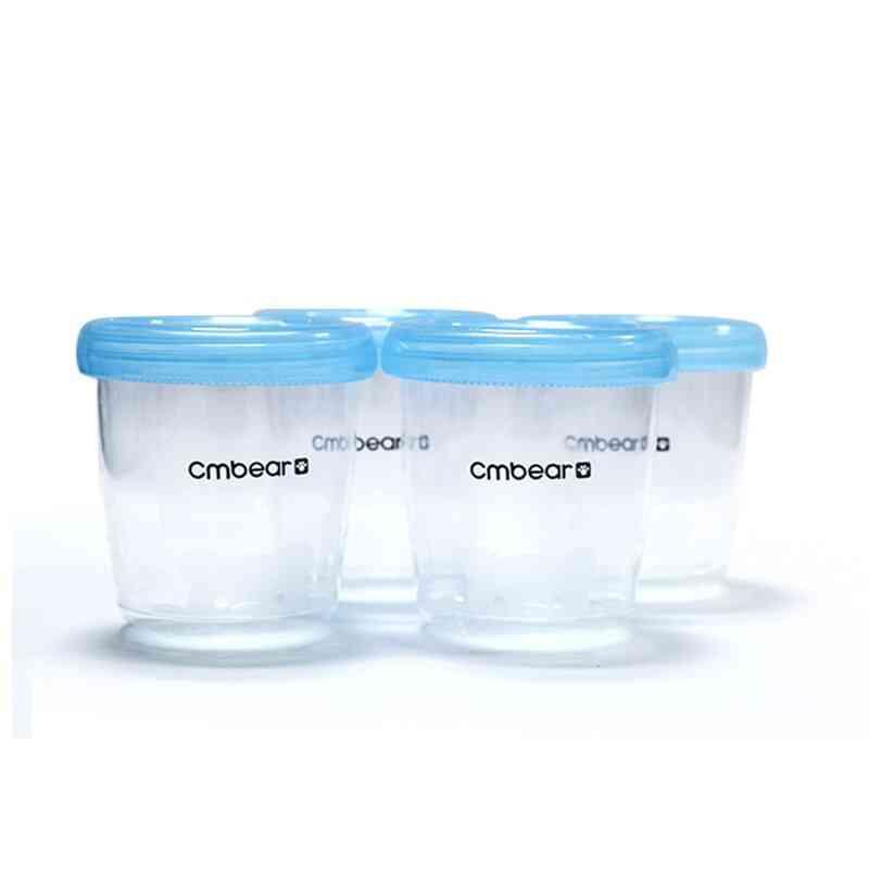 4pcs Free Breast Milk Storage Bottle With Interface Reusable Baby Breasting Feeding Milk Freezer