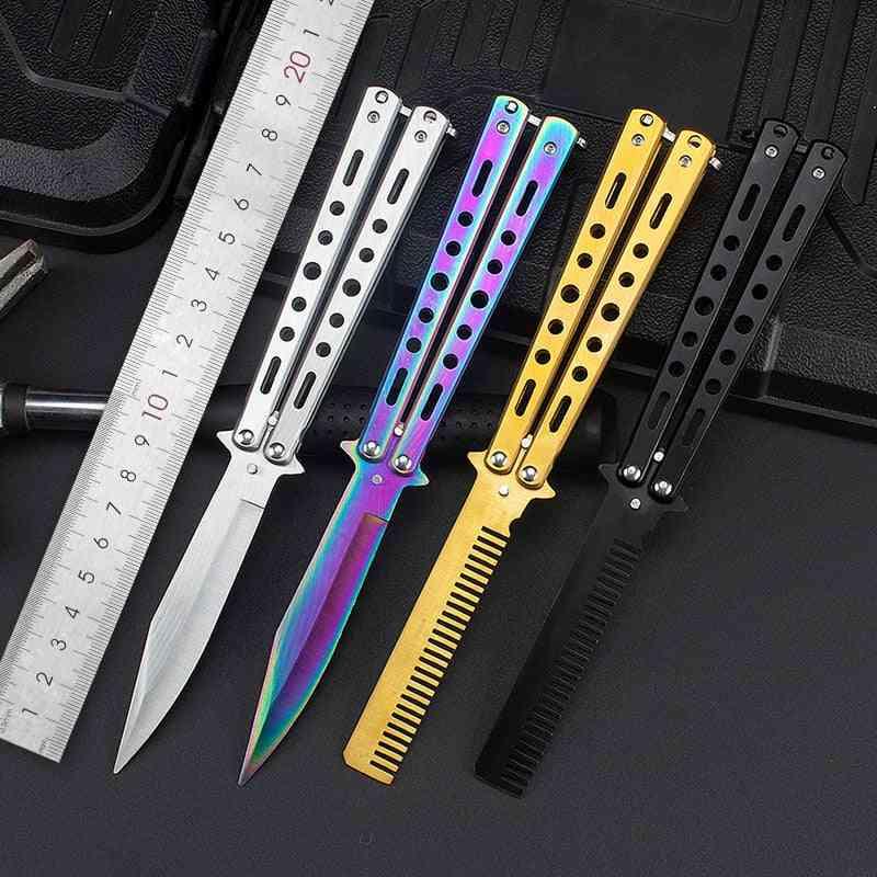 Steel Training Folding Knife