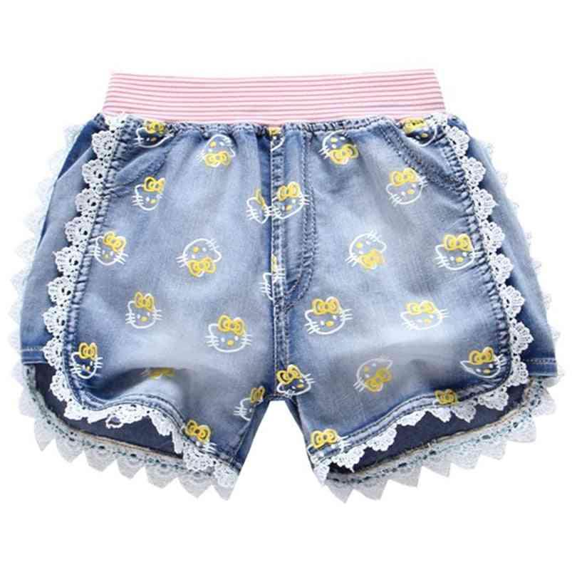 Cartoon Pattern Jeans Short Trouser