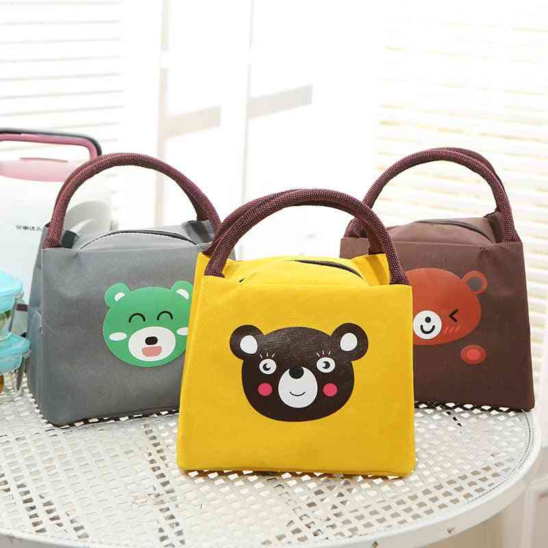 Cute Cartoon Baby Food Thermos Milk Bottle Insulated Warmer Bags