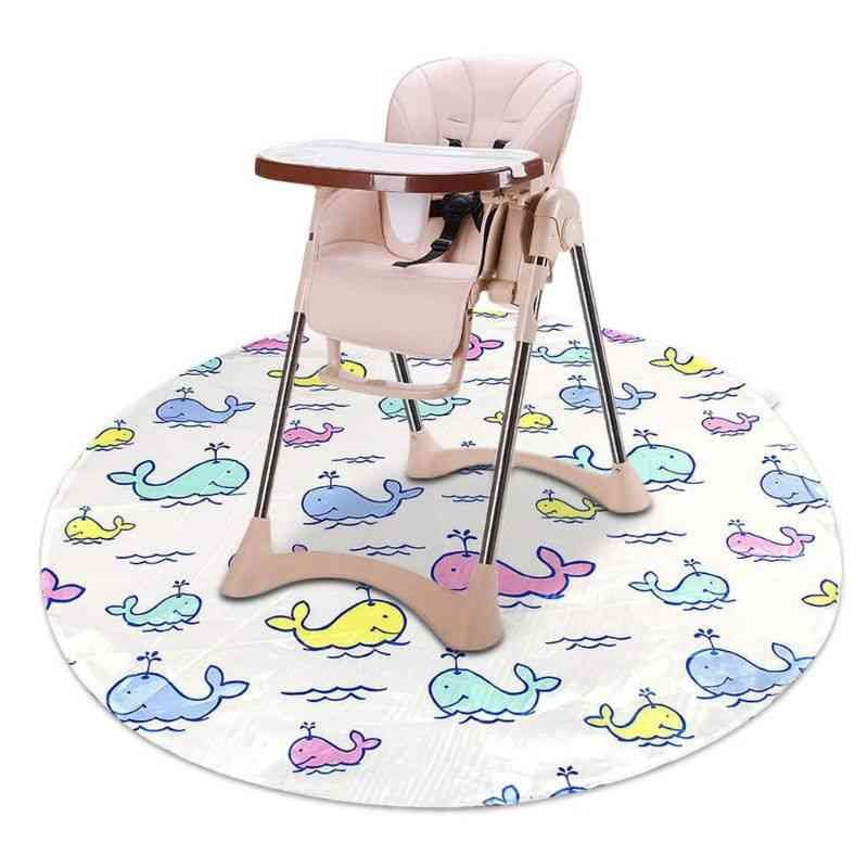 Baby Kids Feeding High Chair Splash Round Mat Anti Slip Foldable Floor Protector