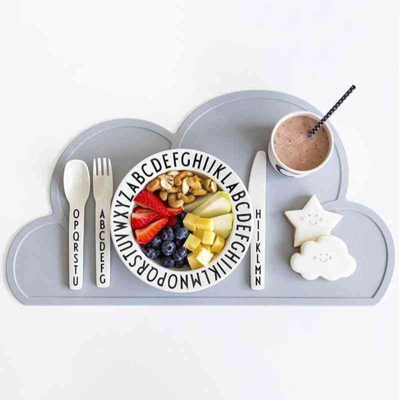 Nordic Style's Tableware Clouds Shaped Silicone Placemat Dinnerware Washable Mat