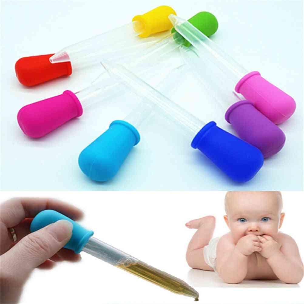 5ml Clear Silicone Pipette Liquid Food Dropper Plastic Baby Feeding Medicine Dropper