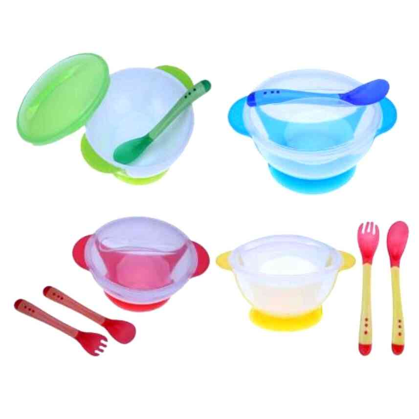 Child Tableware Spoon Food To Use Service Plate, Baby Dinnerware Temperature Bean
