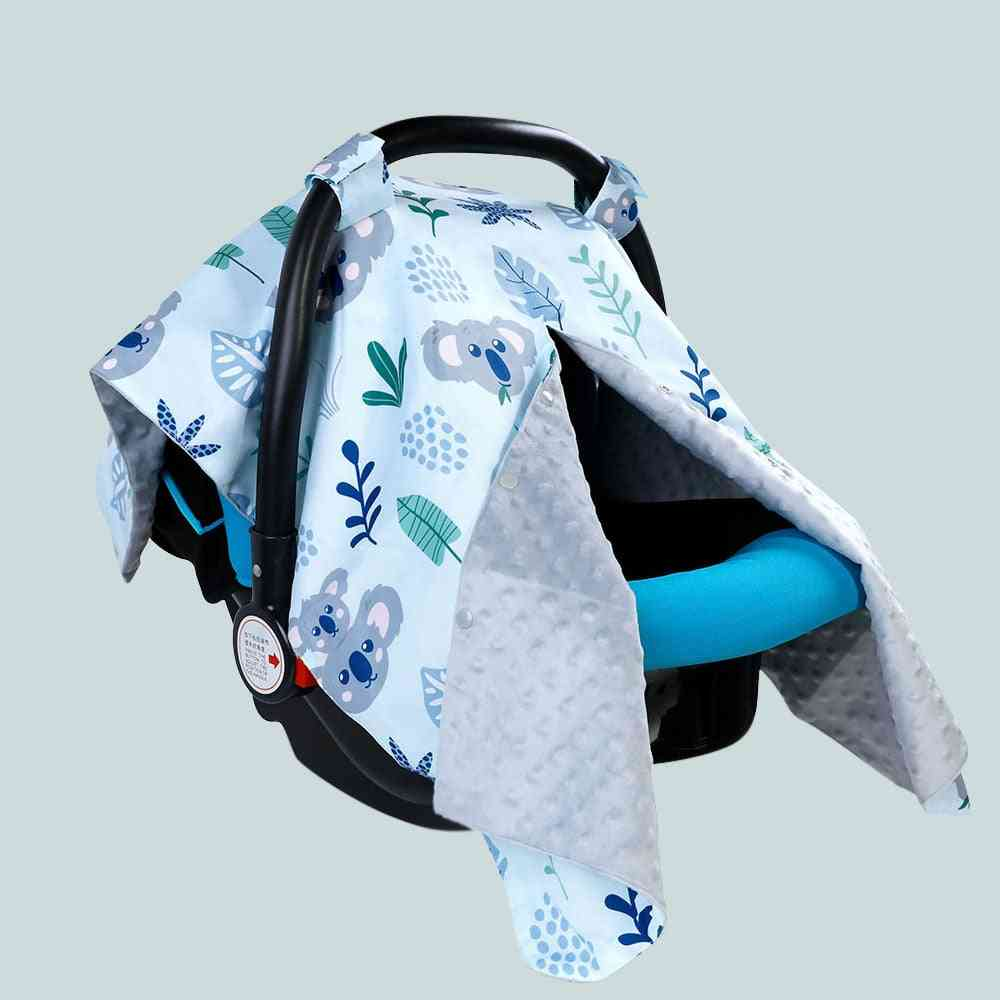 Baby Car Seat Canopy Nursing Cover With Soft And Warm Fabric