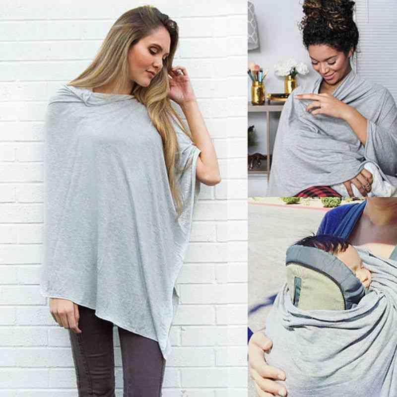 Nursing Breastfeeding Cover Up Scarf Baby Seat Canopy Autumn Coat