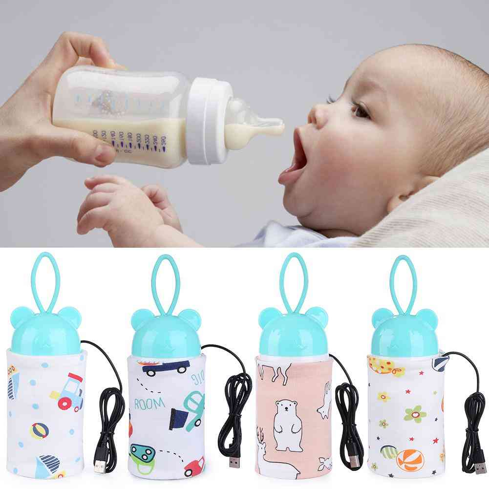Portable Usb Charging Baby Bottle Heated Cover