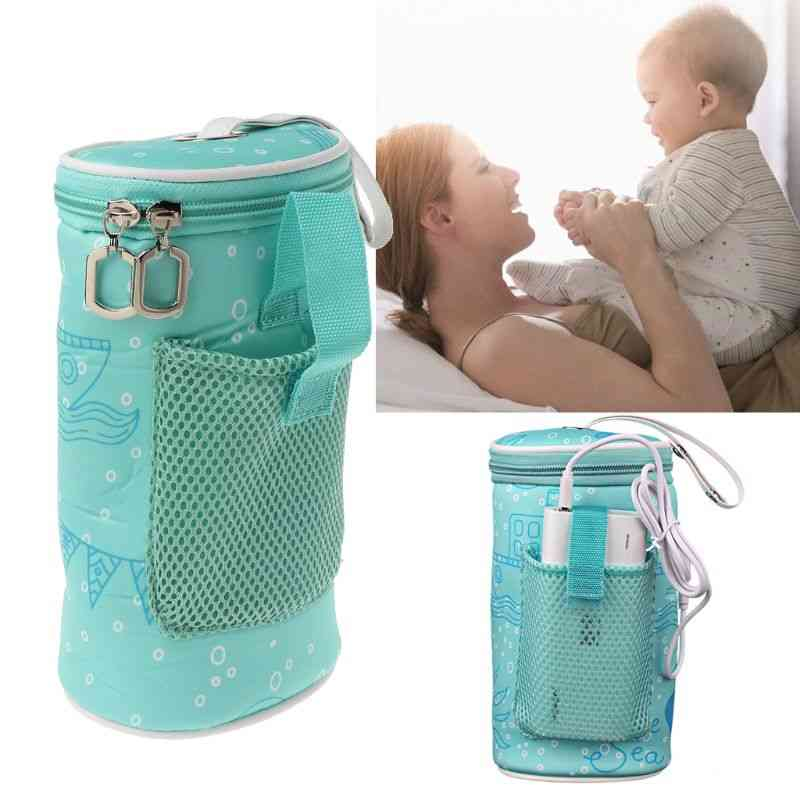 Usb Baby Bottle Warmer Heater Insulated Bag Travel Cup