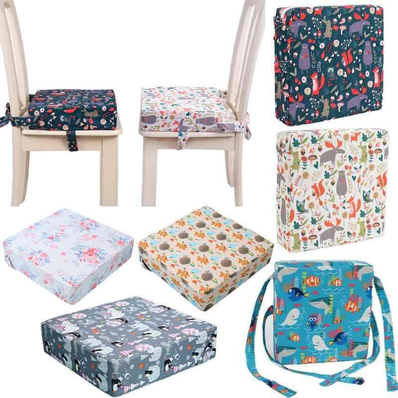 Baby High Chair Booster Pad Adjustable Detachable Washable Thicken Sponge Seat Cushion
