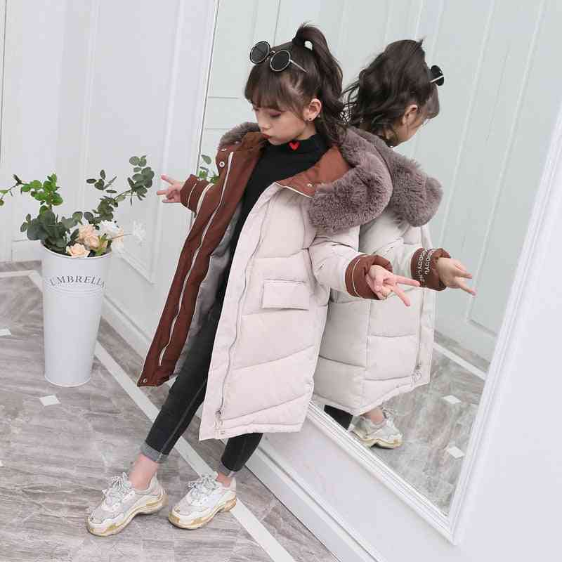 Children Winter Down Cotton Jacket, Girl Clothing