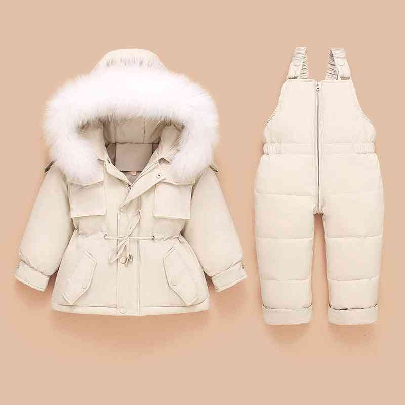 Children Down Coat Jacket And Jumpsuit, Kids Toddler Clothes Set