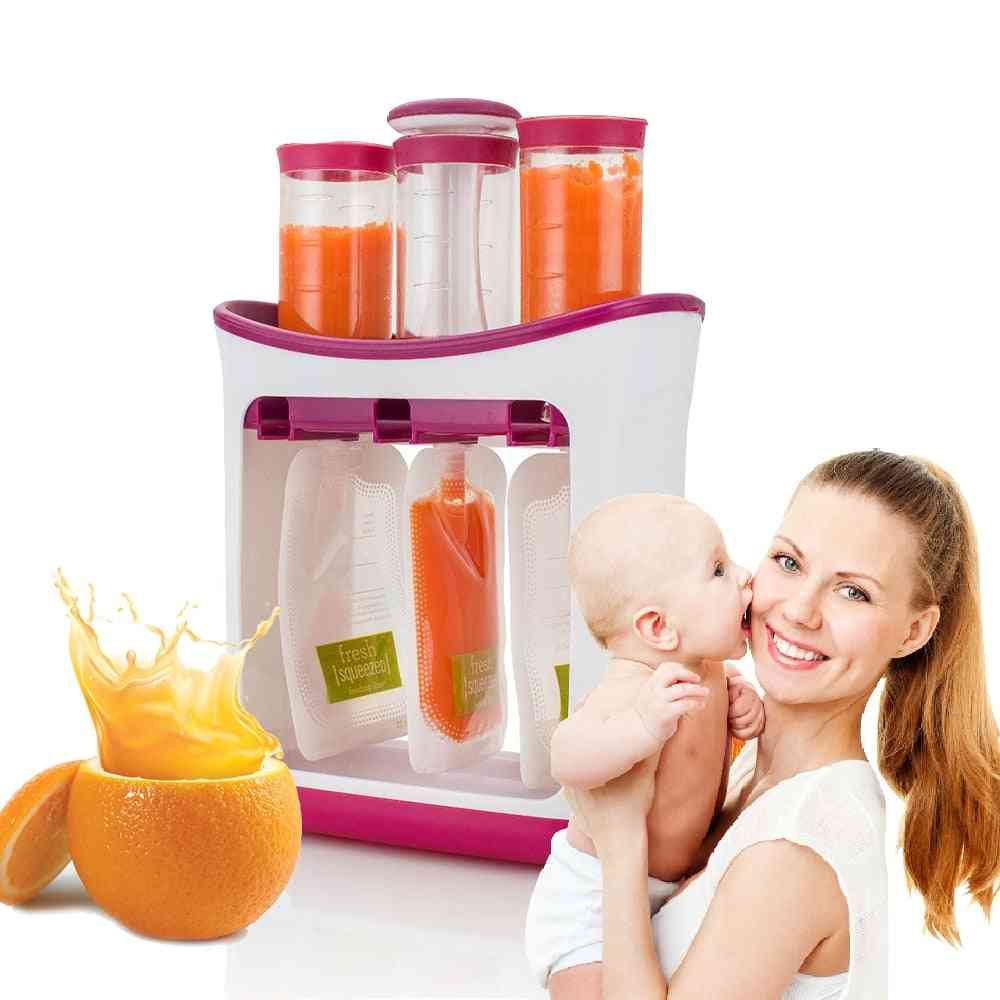 Baby Food Maker, Feeding Containers, Kid Storage Supplies, Tools Toddler Fresh Squeezed Fruit Juice Station