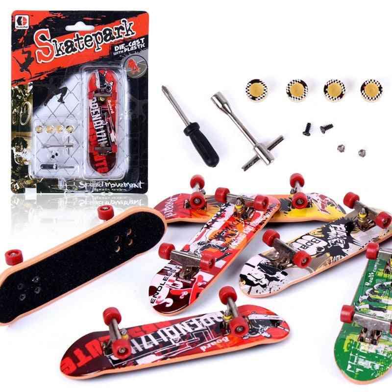 Alloy Stand Plastic, Mini Finger-skateboard