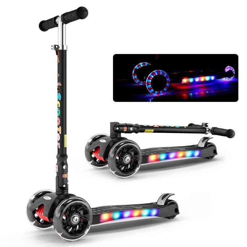 Adjustable Foldable, Balance Scooter, Bike Light Flash, Ride-on Toy For Boy & Girl