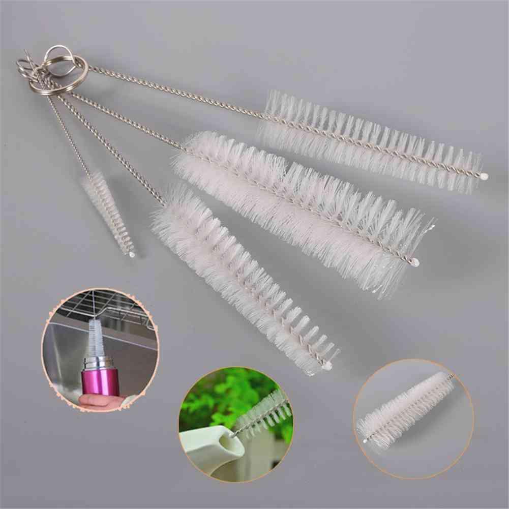 4pcs/set Baby Bottle Nipple Brushes Cleaning Cup Brush Kit (white)