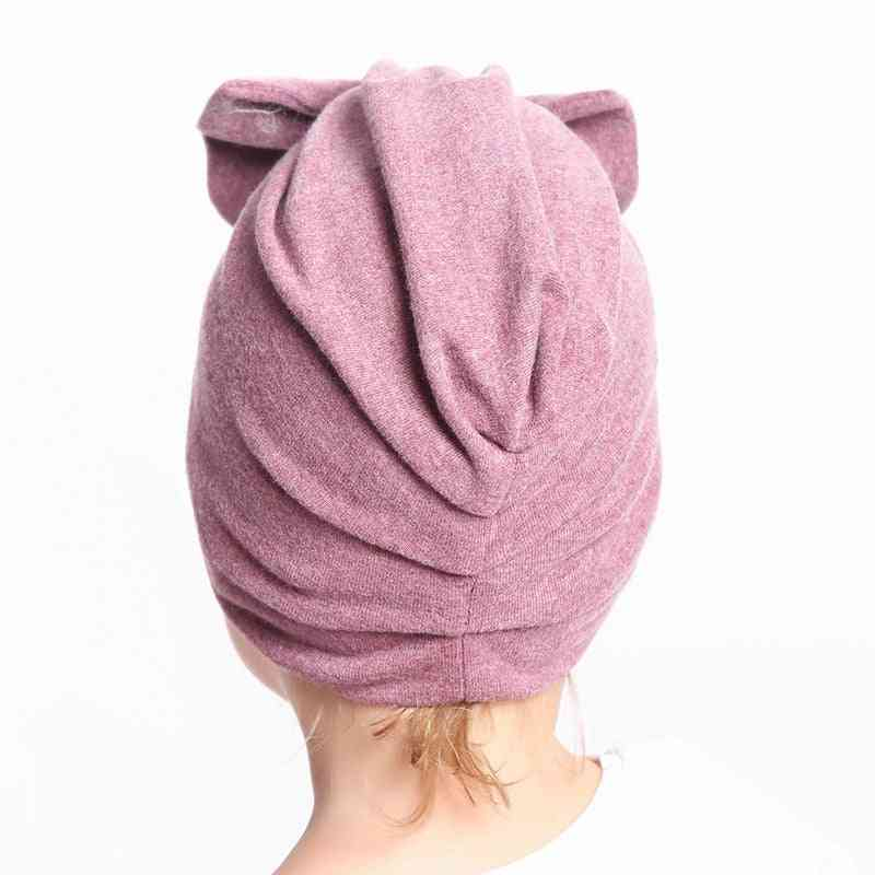 Baby Autumn Turban Cap Photography Props Beanie Hat Accessories
