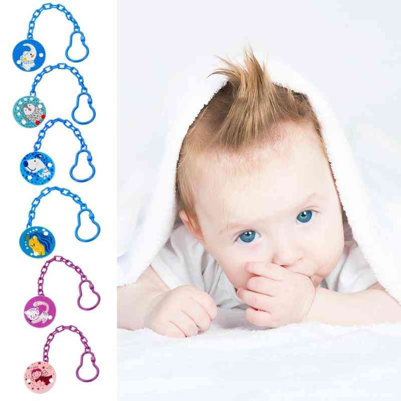 Baby Soother Holder Cartoon Pacifier Clip Nipple Holder