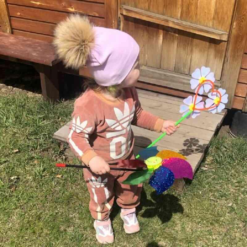 Baby Boy Girl Faux Raccoon Fur Cotton Kids Caps Beanie Hats