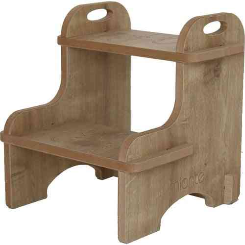 Mionte Wooden Montessori Stool Kids Bathroom Wc Stair Step Disassembled