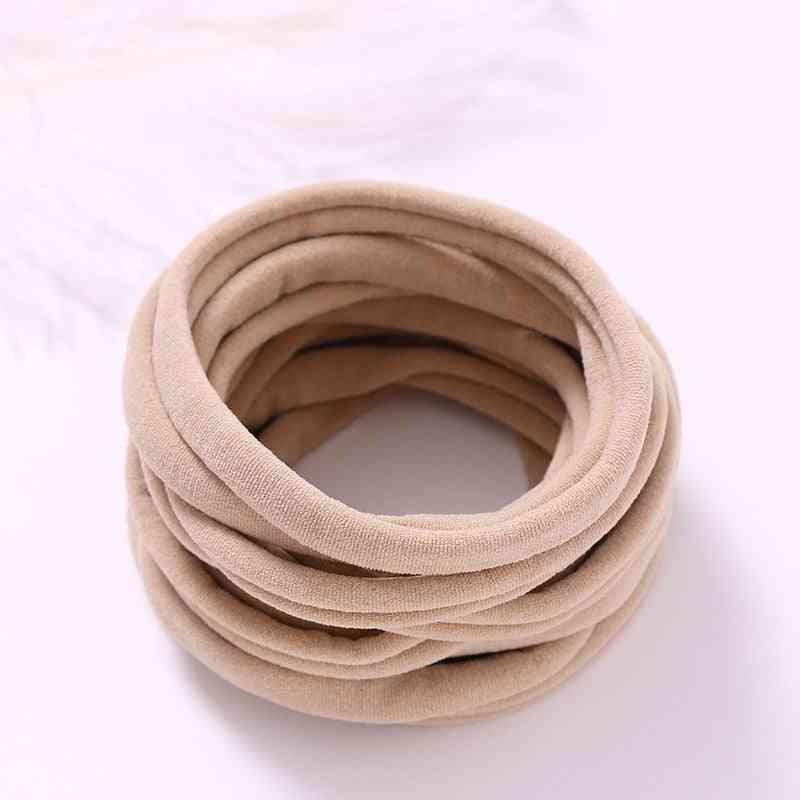 12pcs/lot Newborn Elastic Nylon Headbands For