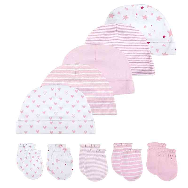 Baby Hat And Mittens Girl Boy Cap, Socks Comfy Hat & Gloves Cotton, Baby Accessories