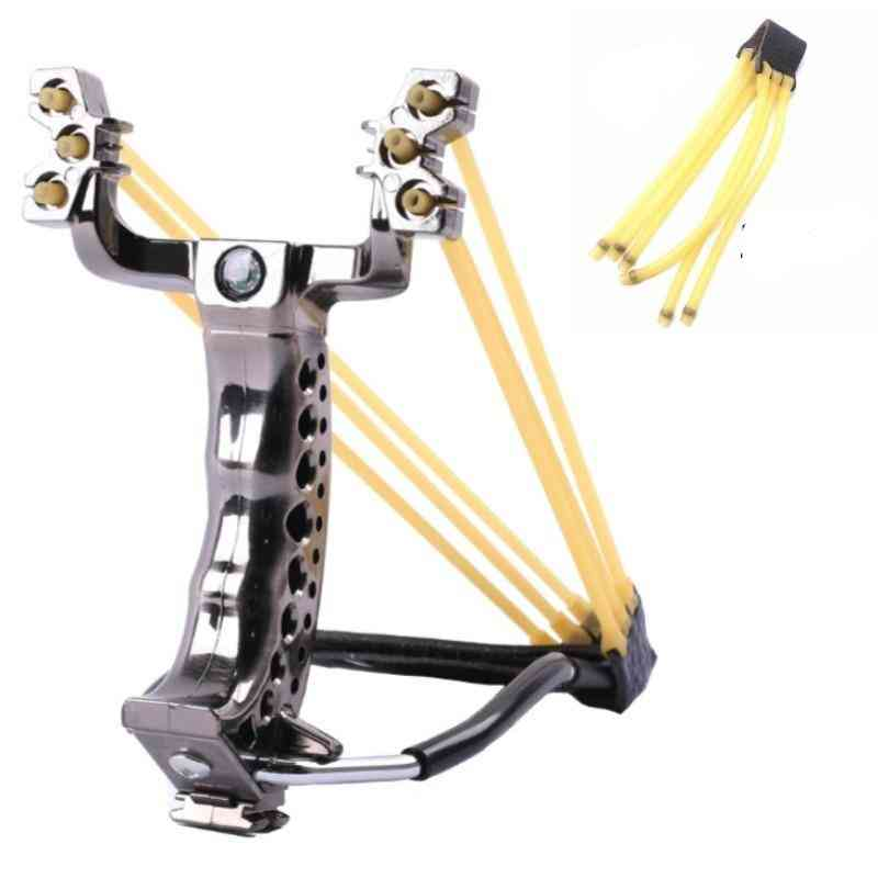 Hot Sale Hunting Slingshot With Wrist Support And Compass Decoration Catapult Professional Slingshot For Outdoor Shooting