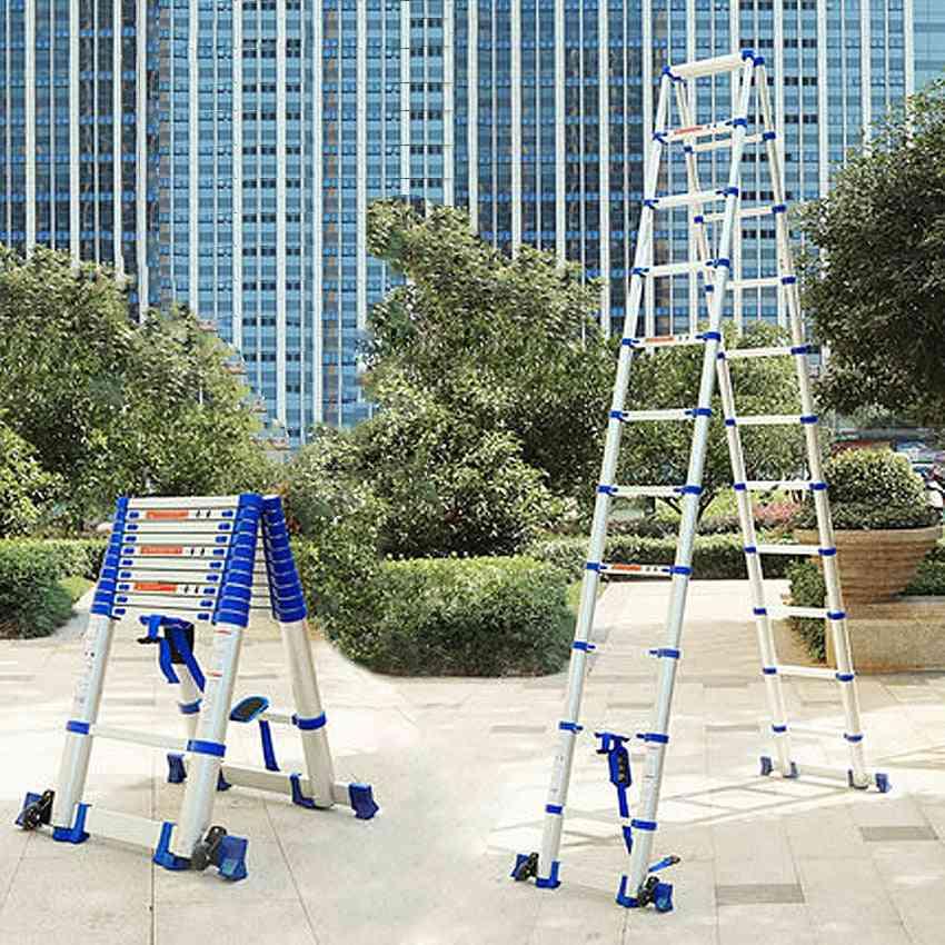 High Quality Thickening Aluminum Alloy Herringbone Ladder Portable Households Telescopic