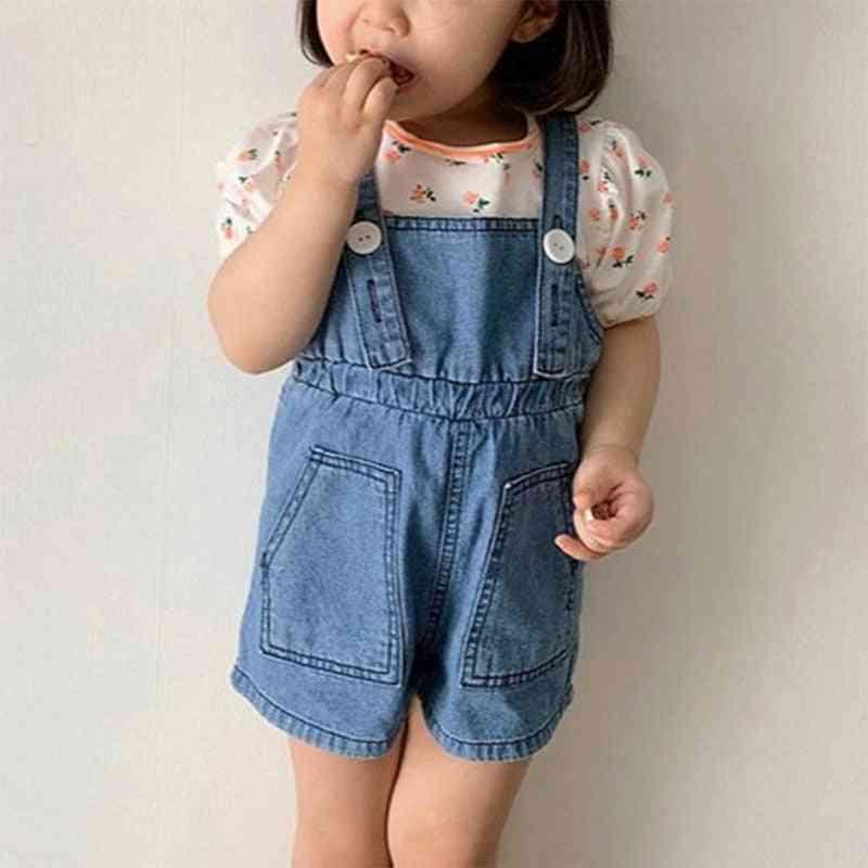 Jumpsuit Denim Summer Overalls Bebe Child Clothing