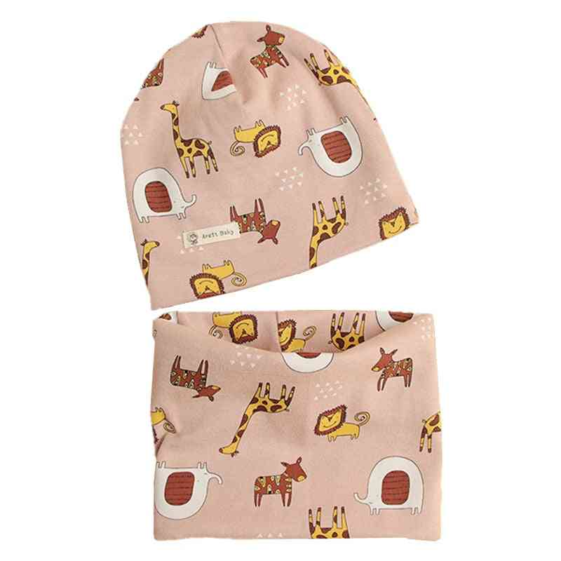 Two Piece Cotton Hat Scarf