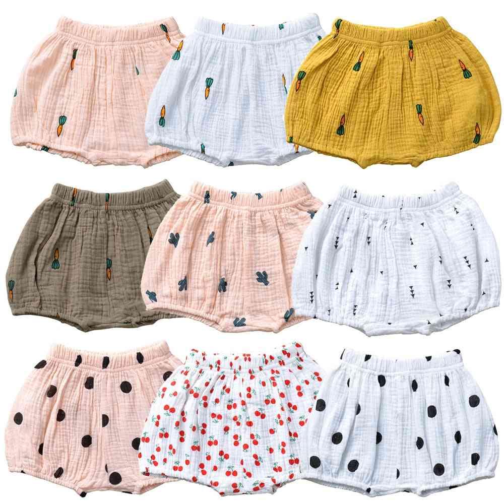 Cotton Linen Bottom Infant Bloomer Briefs Diaper Cover