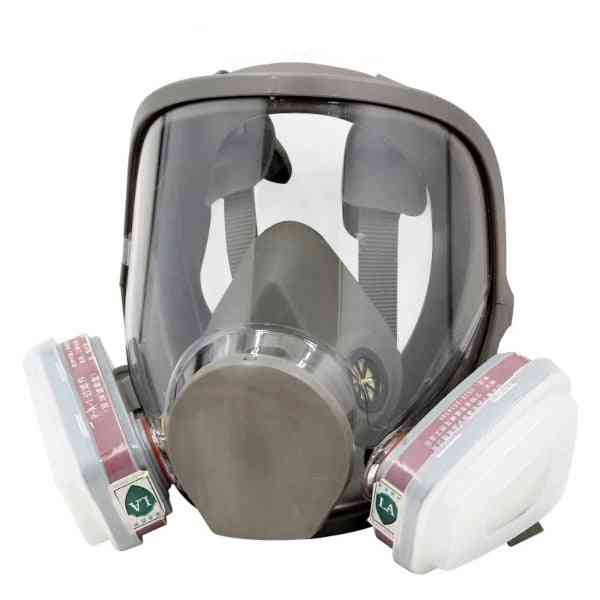 Large View Full Gas And Facepiece Respirator Painting Spraying Silicone Mask