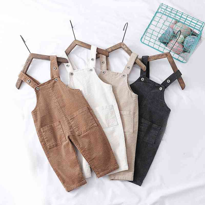 2021 Autumn Spring New Overalls Pants  Corduroy Baby Pants / Clothing For