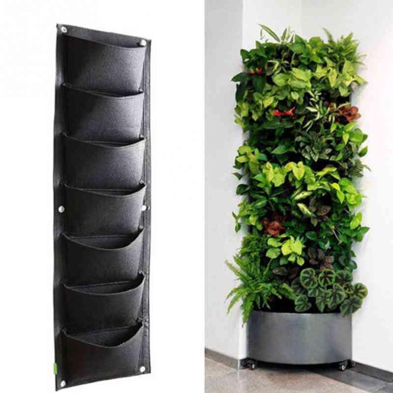 Vertical Garden Planter Grow Bag, Wall-mounted Planting, Flower Bags, Vegetable Living Garden Supplies