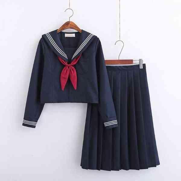 Jk Uniform Short/long Sleeve School Uniforms For Sailor Pleated Skirt Jk Sets