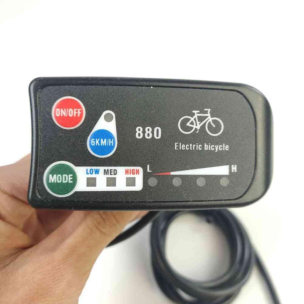Plastic Display E-bike Meter, Waterproof, Led Strip Speed Indicator