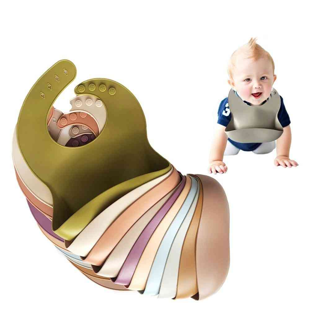 Solid Silicone Baby Bibs Feeding Saliva