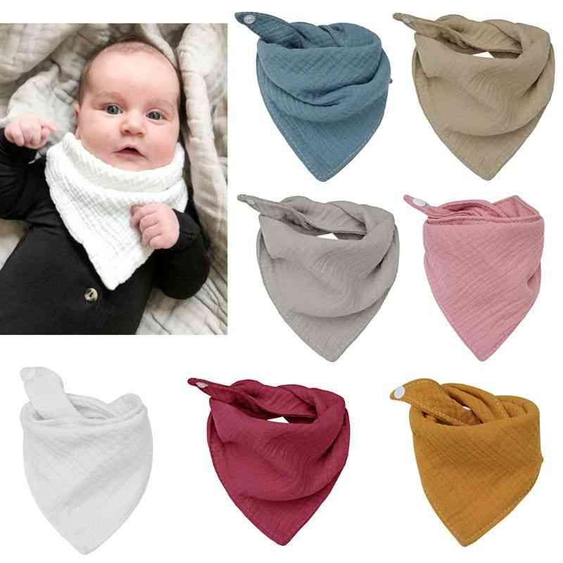 Infant Cotton Bib Newborn  Triangle Scarf