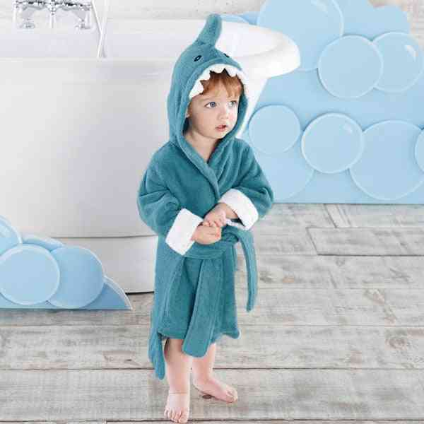 Shark Owl Hooded, Animal Modelling Infant&toddler's Bathrobe/ Cartoon Baby Towel/ Character Kids Bath Robe