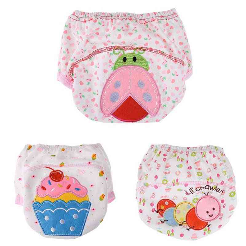 6pcs/lot Baby Waterproof Learning Pants, Toilet Training Be Reused