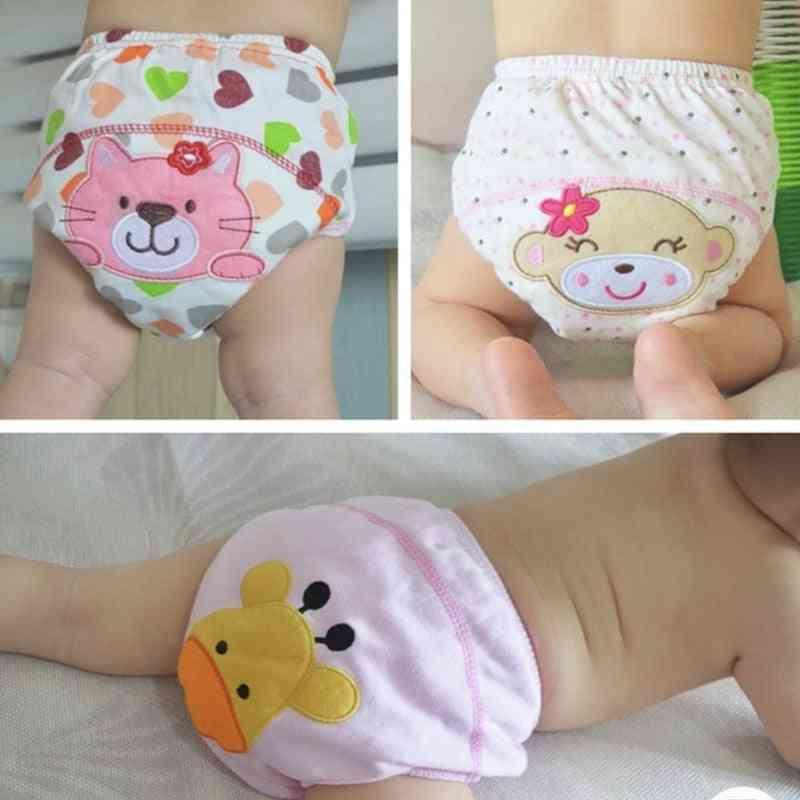 Baby Diaper Underwear Reusable Nappies Training Pants, Panties For Toilet