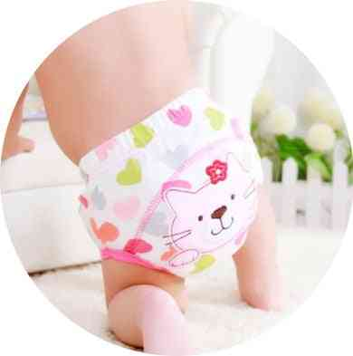 Girls Pants, Cotton Reusable Baby Diapers Waterproof Cloth Nappies, Washable Pants