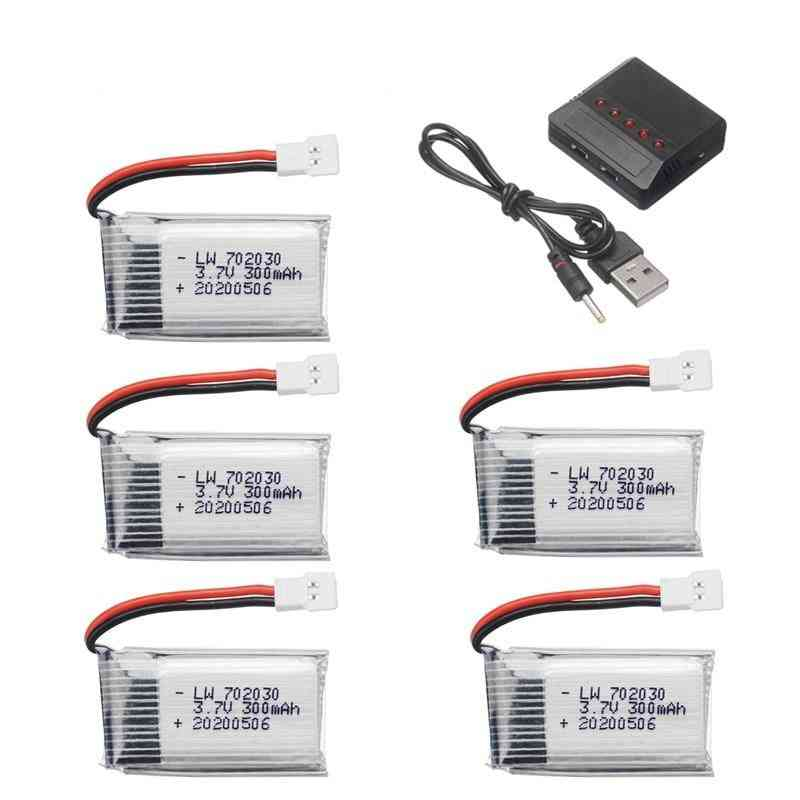 300mah- Lipo Battery With Charger For Hubsan H107, Syma X11c, Fy530 Rc Drone Battery
