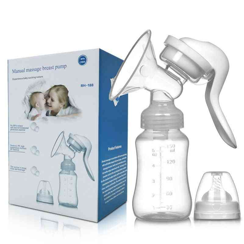 Manual Breast Pump Simplicity Products For Pregnant Women (white)