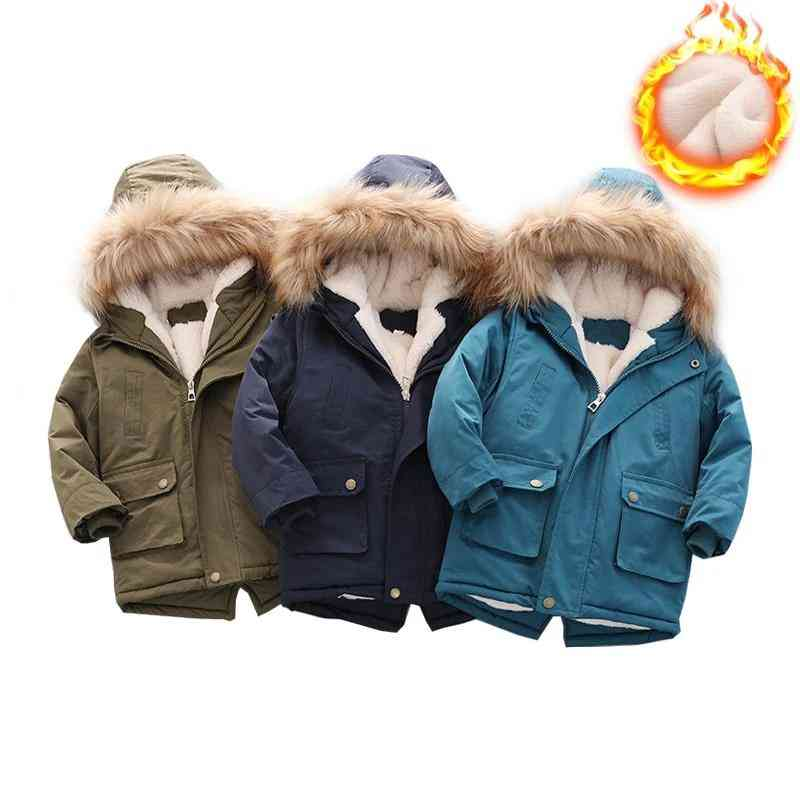 Winter Warm, Outdoor Jacket Casual, Plus Velvet Thick Coats For Boy &