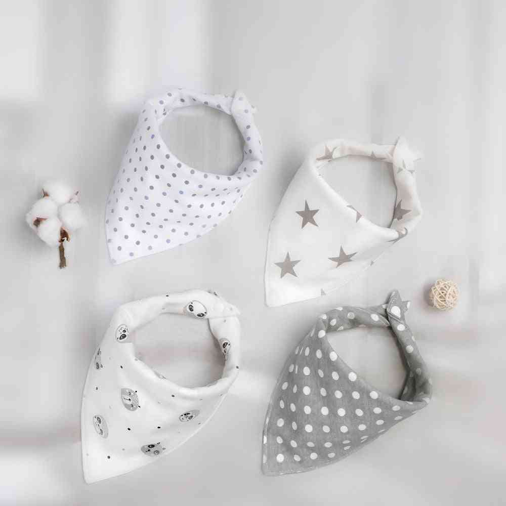 Soft Organic Cotton Baby Bib/drool Cute Triangle Scarf / Saliva Towel For Newborn