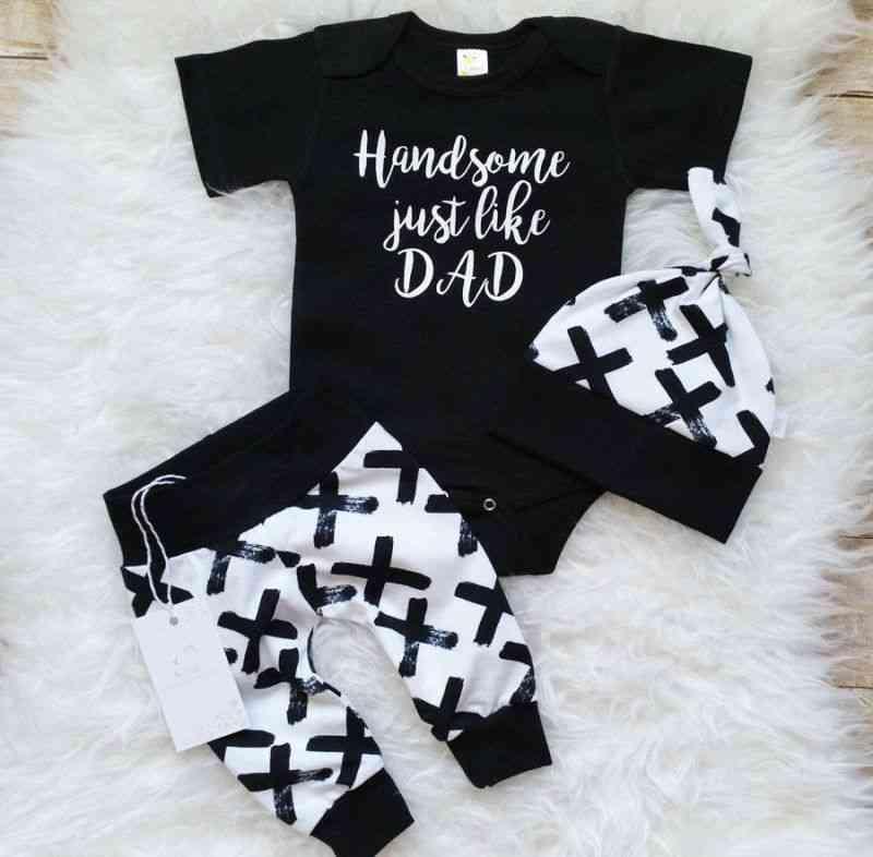 3pcs Clothes Set Newborn Infant /cotton Tops Romper Pants Leggings Outfits Clothing