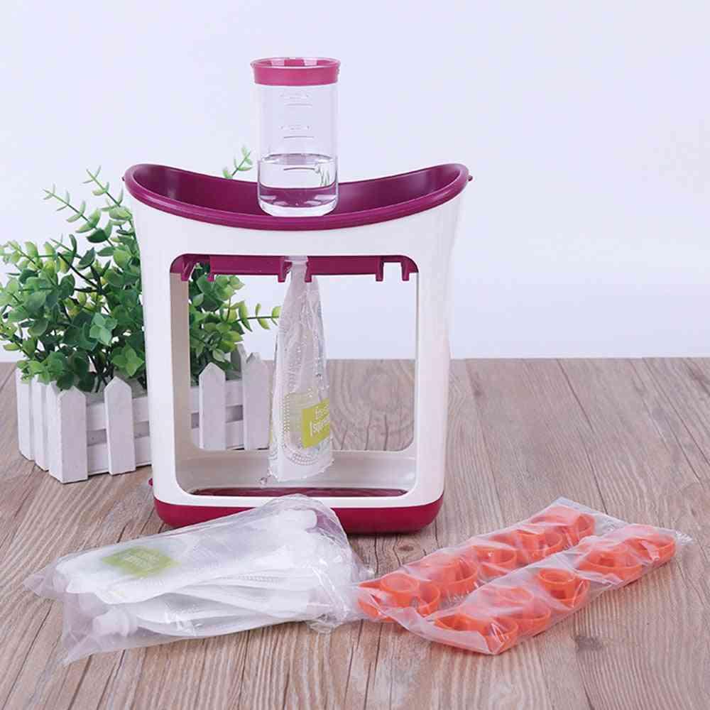 Infant Fruit Mashing Squeezing Juice Station, Baby Food Storage Machine