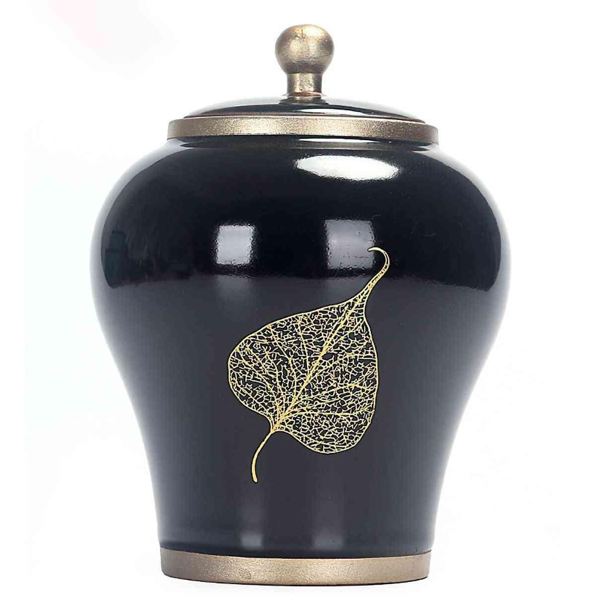 Pet Cremation Memorial Jar Ceramic Gradient Glaze For Dog Cat Bird Mouse Ashes Keepsake Storage Box