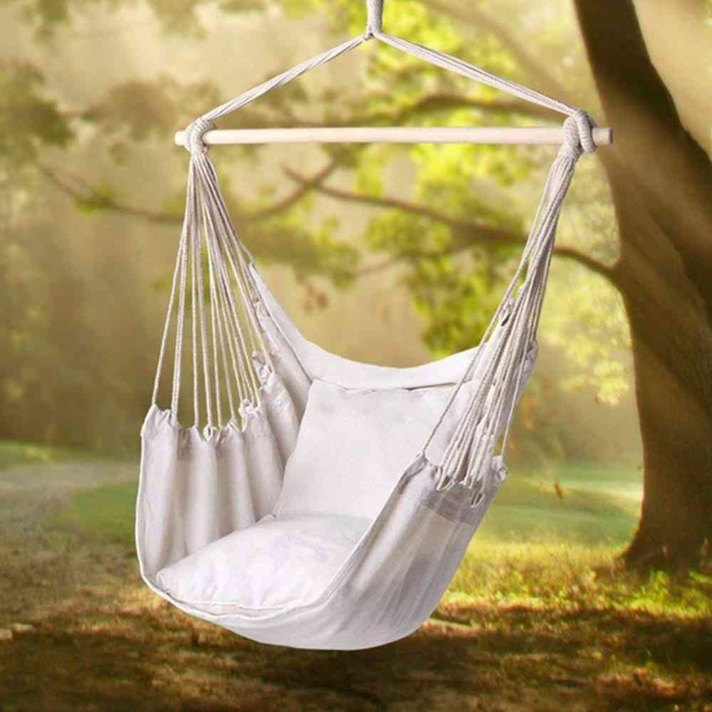 Hammock Garden Hang Lazy Chair, Swinging, Indoor, Outdoor, Furniture Hanging Rope, Seat Bed, Travel Camping